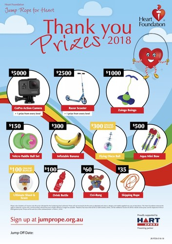 Jump rope for heart prizes 2018 pups